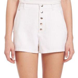 Rag and bone White Branson High Waisted  Shorts